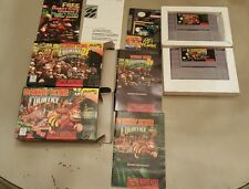 Donkey Kong Country 1&2 Cib RARE SNES Super Nintendo  TESTED!-fast ship