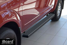 """4"""" Black iBoard Running Boards Fit 05-17 Nissan Frontier/Equator Crew Cab"""