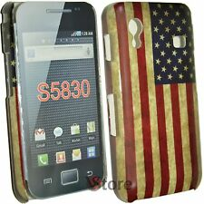 Cover Per Samsung Galaxy Ace S5830 Bandiera America Retro Americana + Pellicola