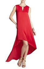 NEW BCBG MAX AZRIA LIPSTICK RED WILLOW ASYMMETRICAL HEM JUF6X038/L1 DRESS XXS