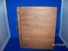 VINTAGE SOLID WOOD PHOTO ALBUM made with Walmart
