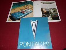 1969 PONTIAC 28 p. BROCHURE 69 FIREBIRD GRAND PRIX GTO BONNEVILLE LEMANS Etc.