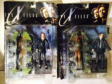 MCFARLANE TOYS X-FILES ACTION FIGURES. AGENT FOX MULDER & DANA SCULLY BOXED 1998