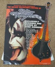 KISS GENE SIMMONS PUNISHER BASS GUITAR PROMO DISPLAY FROM SPENCERS - REAL