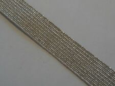 """Silver Lace, 0.5"""""""", 13mm Wide, Uniform, Army Military, Navy, Straight design"""