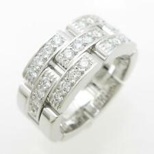 Authentic Cartier Maillon Panther half Diamond ring  #260-001-741-0762