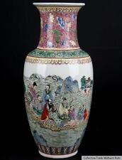 China 20. Jh. A Chinese Famille Rose Baluster Vase - Vaso Cinese Chinois - 八仙