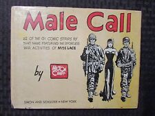 1945 MALE CALL by Milton Caniff HC/DJ VG/GD- 112 GI Comic Strips MISS LACE 3rd