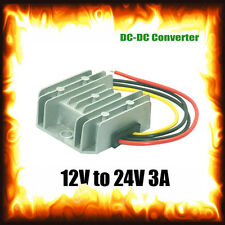 12v to 24v DC 3Amp 3A 72W Current Step Voltage Reducer Lorry Truck Boat Car