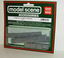 Modelscene Accessories 5090 - Stone Walls & Buttresses (00) - Railway Models