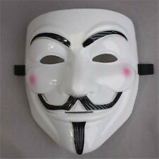 New V for Vendetta Mask Anonymous Guy Fawkes Fancy Dress Adult Costume cosplayW5