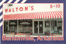 Post Card - Walton's 5-10 Bentonville, Arkansa - New - Where Wal-Mart started!