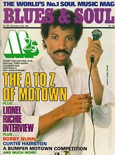 Lionel Richie Blues & Soul Issue 394 1983  The A-Z of Motown    Curtis Hairston