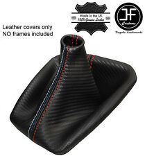RED STITCH CARBON FIBRE LOOK GEAR GAITER FITS BMW E36 E46 91-05 M /// STITCH