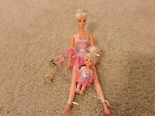 Lot of Ballerina Barbie and Kelly matching ballet outfits and tutus rare htf 90s