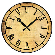 "1 15"" Large Wall Clock Wooden Vintage Antique Big Home Room Office Decor Silent"
