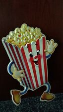 Popcorn OldFashion Tin Metal Sign 14x5  Snacks Kitchen Movie Theater Decor