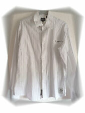 Chemise Fantaisie  Blanche Fines Rayures  G-Star Taille L
