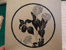 vintage Drawing:  ink of FLOWERS signed KATRINA SHEPARD when a child