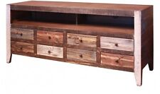 Reclaimed Wood, Rustic, TV Stand Entertainment Unit Cabinet Buffet Console Table
