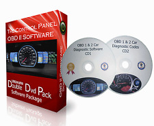 2 CD PACK + OBD 1 & OBD 2 CAR DIAGNOSTIC SOFTWARE + ECU BHP TUNNING REMAPPING