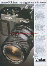 Vivitar V335 SLR Camera 1989 Magazine Advert #3524