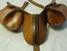 Vintage Brown Leather Dog Panniers Dog Saddle Bags.