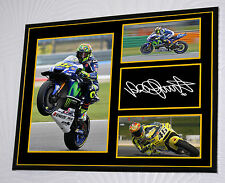 "Valentino Rossi  Canvas Signed ""Great Gift"" 16 x 12 Frame"