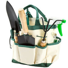 Garden Plant Tool Set Gardening Tools Organizer Tote Kit Lawn Yard Bag  Carrier 8