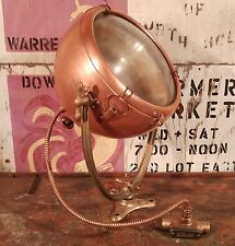 RARE Vintage Copper Spot Light w/ Brass Yoke GE Novalux -Fully Restored-Complete