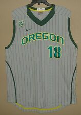 SZ 46 NIKE AUTHENTIC GAME TEAM ISSUED OREGON DUCKS BASEBALL JERSEY PAC12 #18 USA