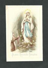 Estampa antigua Virgen de Lourdes andachtsbild santino holy card santini