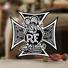 Rat Fink Iron Cross Ed Roth genuine sticker decal hot rod oldschool MOON large