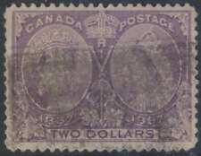 CANADA 1897 JUBILEE ISSUE QV Sc 62 KEY VALUE USED SCV$600.00