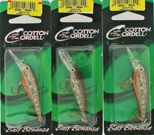 (3) Cotton Cordell 2 Inch Minnow Crawfish Crankbaits New