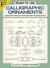 Ready-to-Use Calligraphic Ornaments (Dover Clip Art)-ExLibrary