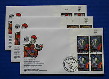 United Nations - 1995 WFUNA 50th Anniversary IB4 FDC set