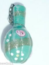 PERFUME SCENT BOTTLE VENETIAN GLASS CHATELAINE EQUIPAGE ANTIQUE MINIATURE