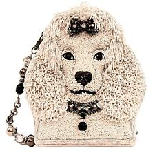 Mary Frances Fifi Poodle Dog White Puppy Beaded Purse Bag Handbag NEW