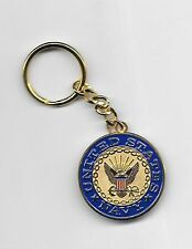 USN Navy  EMBLEM KEY RING FULL  METAL