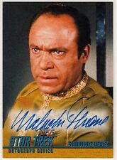 STAR TREK TOS A20 MALACHI THRONE AS COMMODORE MENDEZ AUTOGRAPH CARD SKYBOX 1997