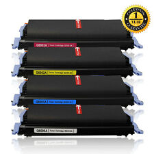 4x Q6000A Q6001/2/3A Toner Set For HP 124A Color LaserJet 1600 2600n 2605dn