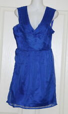 Womens size 6-8 blue short cocktail dress made by TEMT
