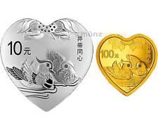 10 + 100 Yuan Auspicious Culture Bing Di Tong Xin Ente China Silber Gold 2016