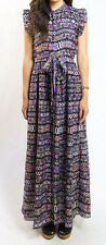 NWT! CAROLINA K SANTA MONICA PRINT COTTON SILK VOILE MAXI DRESS XS
