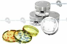 88-91 HONDA Civic Si EX CRX Si 1.6L D16A6 AFTERMARKET Pistons and Rings Set
