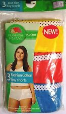 New In Pkg Fruit Of The Loom New Yellow Red  Blue  (3) Boyshorts Size 13