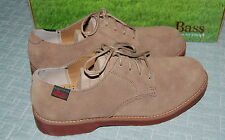 NEW Bass Kids Exeter Oxford Shoes, Taupe Suede, Big Boy's Size 4.5