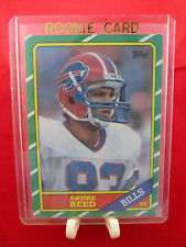 "1986 Topps ""Andre Reed"" Rookie Football SP Card #388 Buffalo Bills (HOF, WR) NM"