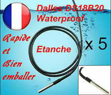 5 X DS18B20 Dallas 1-Wire Digital Thermometer Etanche ( Waterproof )